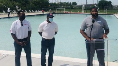 D.C. Department of General Services employees ready the Anacostia Pool for the summer 2021 season. (Courtesy of D.C. Department of Parks and Recreation)