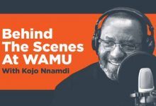 Photo of Local Radio Favorite Kojo Nnamdi Broadcasts Final Show