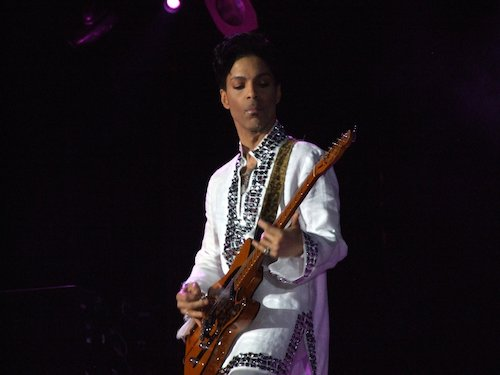 **FILE** Prince playing at Coachella 2008 (Penner via Wikimedia Commons)