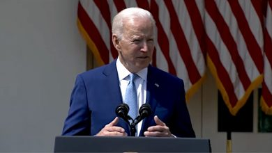 President Joe Biden speaks about his executive orders to help prevent gun violence during an April 8 press conference in the Rose Garden at the White House.