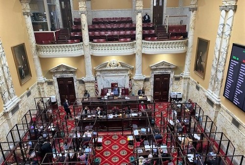 The Maryland Senate holds a session in Annapolis on April 1. (William J. Ford/The Washington Informer)