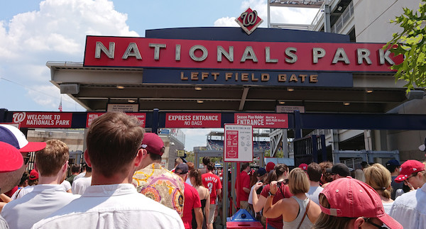 **FILE** The left field entrance gate at Nationals Park is shown here. (Wikimedia Commons)