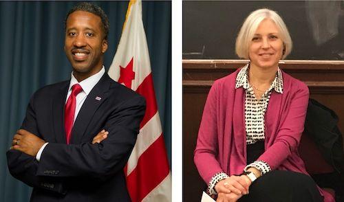 Ward 5 Council member Kenyan McDuffie (left) and Vicki Girard, director, Georgetown University Health Justice Alliance (Courtesy photos)