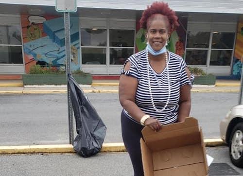New Carrollton Mayor Phelecia Nembhard has been feeding and clothing those in need. (Courtesy photo)