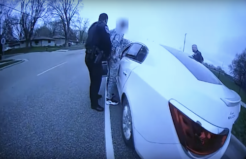 Body-camera footage of the attempted arrest of Daunte Wright, who was fatally shot by a Minnesota police officer on April 11
