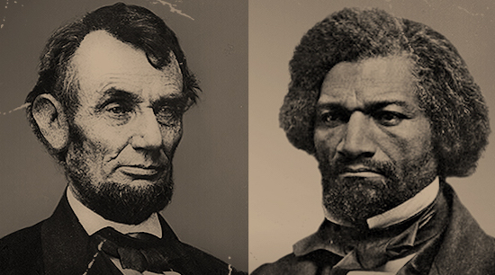Abraham Lincoln and Frederick Douglass (Courtesy of the Library of Congress and National Portrait Gallery)