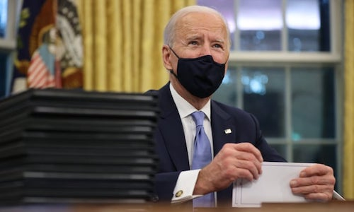 President Joe Biden signs Executive Orders to mitigate the damage caused by climate change and promote environmental justice. (Courtesy photo)