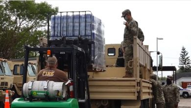 **FILE** The Texas National Guard unloads supplies before Hurricane Hanna in July 2020. (Courtesy of the Texas National Guard via Wikimedia Commons)