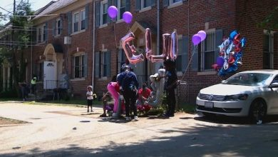 A makeshift memorial for Ella-Mae Neal (Courtesy photo)