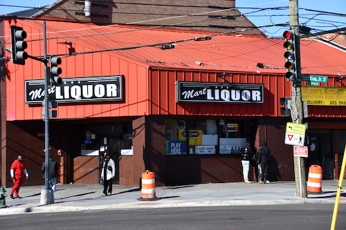 The Mart Liquor Store located at the intersection of Martin Luther King Jr. and Malcolm X avenues in southeast D.C.