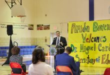 Photo of Education Secretary Cardona Makes Pit Stop at Amidon-Bowen Elementary