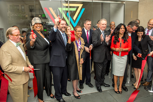 Whitman-Walker Leadership, board members, and D.C. representatives at the May 2015 Ribbon Cutting of Whitman-Walker's 14th Street NW Health Center