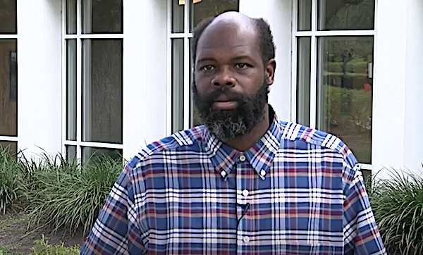 "**FILE** John ""Jack"" Christopher Smith, who has intellectual disabilities, speaks with WPDE-TV in 2017 about being essentially enslaved at a South Carolina restaurant for years."