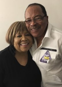 Pervis Staples with sister Mavis in 2017