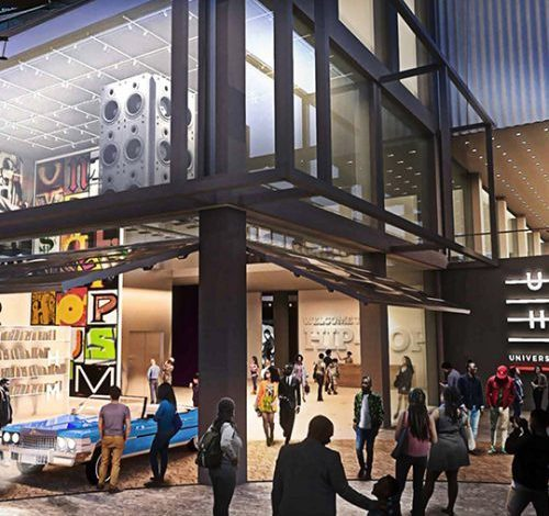 An artist's rendering of the Universal Hip Hop Museum (Courtesy of uhhm.org)