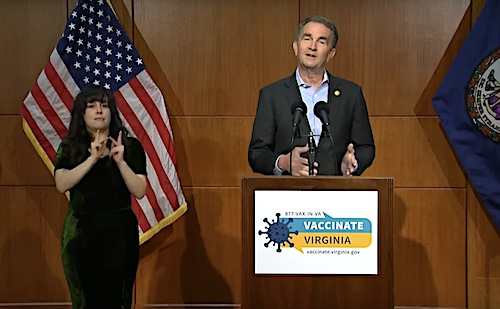 Virginia Gov. Ralph Northam speaks during a May 6 press briefing to give an update on the state response to the coronavirus pandemic.