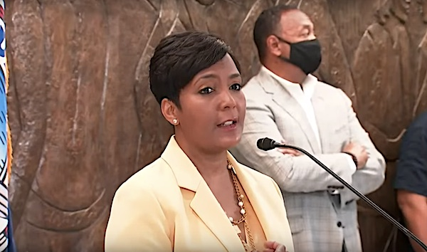 Atlanta Mayor Keisha Lance Bottoms speaks during a May 7 news conference to announce she would not seek reelection.