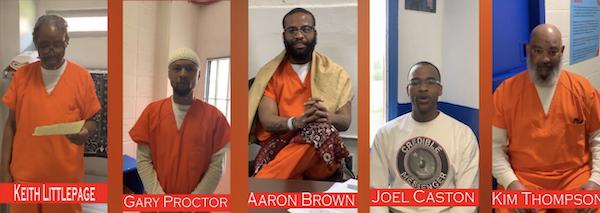 D.C. Jail inmates Keith Littlepage-El, Gary Proctor, Aaron Brown, the winner Joel Caston and Kim Thompson (Photos courtesy of WJLA)