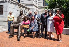Photo of Newark, N.J., Honors George Floyd with Statue at City Hall