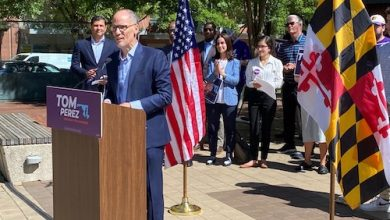 Former Democratic National Committee Chair Tom Perez announces his intention to seek the Democratic nomination for Maryland governor during a kickoff event in downtown Silver Spring on June 23. (William J. Ford/The Washington Informer)