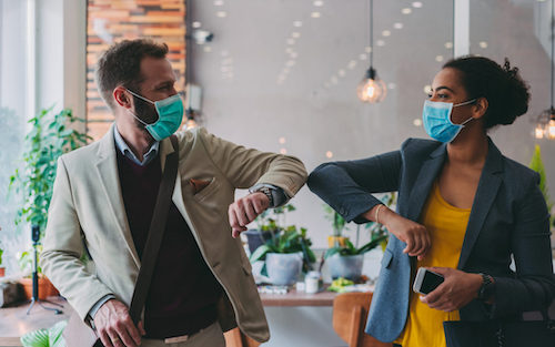 Returning to the office after pandemic restrictions have been lifted remains a challenge for many. (Courtesy of NDS Wellness)