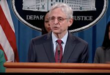 Attorney General Merrick Garland speaks during a news conference on voting rights at the Department of Justice headquarters in Washington on June 25.