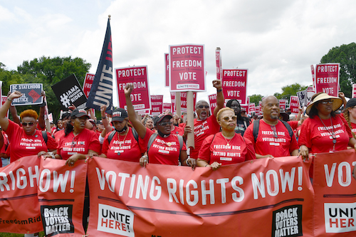 District residents demand equality now! (AnthonyTilghman/The Washington Informer)