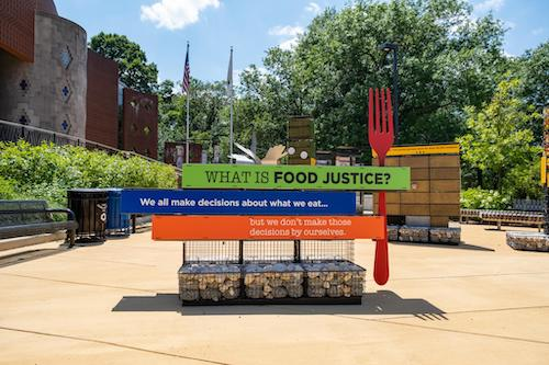 A portion of the 'Food for the People' exhibit at the Anacostia Community Museum. (Ja'Mon Jackson/The Washington Informer)