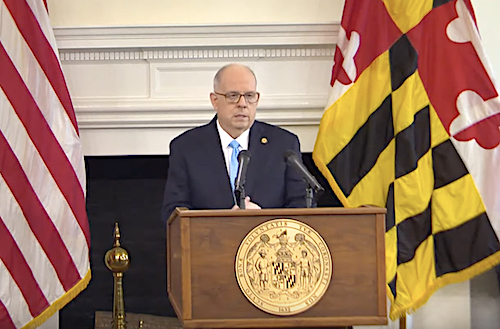 Maryland Gov. Larry Hogan speaks during a June 15 press briefing in Annapolis to give an update on the state response to the coronavirus pandemic.