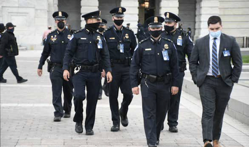Several U.S. Capitol Police officers spent the day testifying about their experience during the insurrection on January 6. This is a photo taken earlier in the year. (Roy Lewis/The Washington Informer)