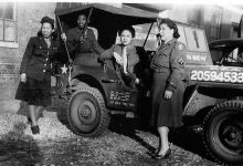 Four members of the 6888th Postal Directory Battalion (Courtesy of the Department of Defense)