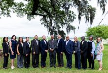 Mike Sommers, president and CEO of API, meets with Southern University President Ray L. Belton, LMOGA President Tyler Gray and members of their leadership teams.