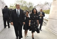 **FILE** Martin Luther King III with his daughter Yolanda and wife Arndrea in Washington, D.C., in 2019 (Robert R. Roberts/The Washington Informer)
