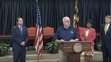 Maryland Gov. Larry Hogan announces the launch Connect Maryland, a new initiative aiming to address the state's digital divide, during an Aug. 20 press conference in Snow Hill.