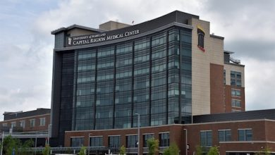 The University of Maryland Capital Region Medical Center in Largo, which opened in June near the Largo Town Center Metro station, lies within the zoning district labeled regional transit-oriented, high intensity. (Robert R. Roberts/The Washington Informer)