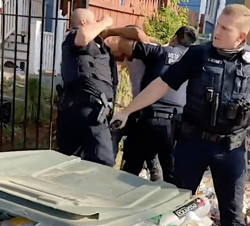 An onlooker's video purportedly showing an Aug. 8 incident in which a Metropolitan Police officer repeatedly punching a suspect in southeast D.C. quickly went viral.