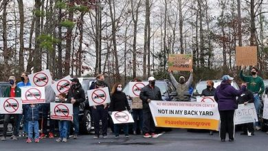 Residents are fighting against a proposed Wegmans distribution center. (Photo courtesy Virginia League of Conservative Voters)