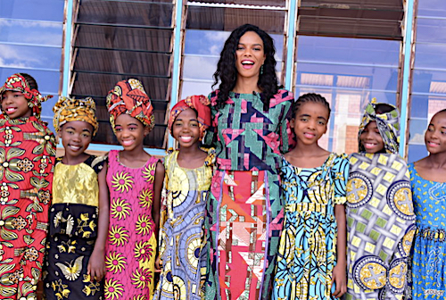 Noëlla Coursaris Musunka, a Congolese/Cypriot philanthropist and international model, is the founder of Malaika. (Courtesy photo)