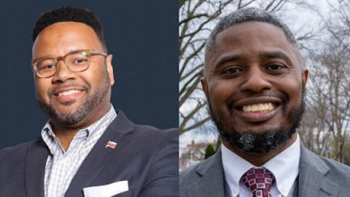 Troy Prestwood (left), who serves as the president of the Ward 8 Democrats and is a former advisory neighborhood commissioner, faces a challenge by Salim Adofo (right), the club's second vice president. (WI file photo)