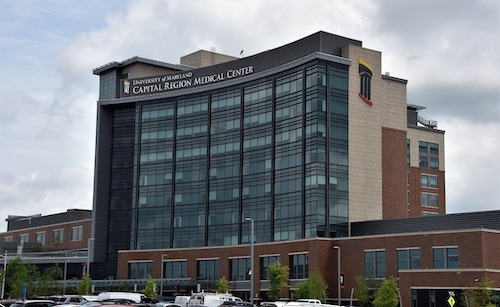 The University of Maryland Capital Region Medical Center in Largo sits within the zoning district labeled regional transit-oriented, high intensity. (Robert R. Roberts/ The Washington Informer)