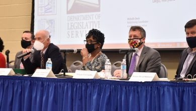 The Maryland Legislative Redistricting Advisory Commission holds its first public hearing at Prince George's Community College in Largo on Sept. 20. (Robert R. Roberts/The Washington Informer)