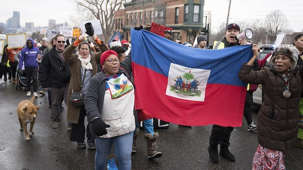 **FILE** Around 500 people gathered in St. Paul to march in support of immigrants and protest Republican President Donald Trump's immigration policies. The protesters called for the end of deportations, the Muslim travel ban, and discrimination against undocumented immigrants. They spoke in support of DACA (Deferred Action for Childhood Arrivals) and TPS (Temporary Protected Status) for countries like El Salvador and Haiti. (Fibonacci Blue via Wikimedia Commons)