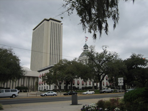 **FILE** New and old Florida State Capitol buildings in Tallahassee (Infrogmation of New Orleans via Wikimedia Commons)
