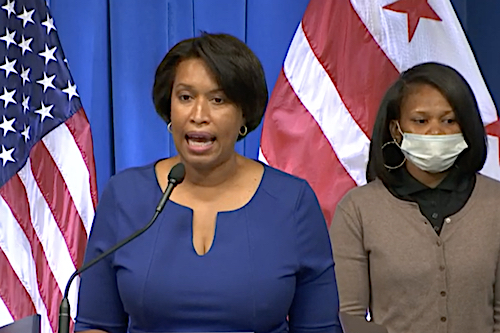 D.C. Mayor Muriel Bowser speaks during a Sept. 27 press conference to announce an extension of the city's ticket amnesty program.