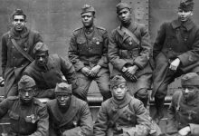Members of the all-Black 369th Infantry Regiment, who fought in World War I (Courtesy photo)