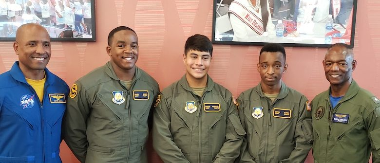 Bowie High School Cadet Ashton Burton was one of 21 nationwide participants to complete the Flight Academy program and receive his private pilot's license. (Courtesy of PGCPS)