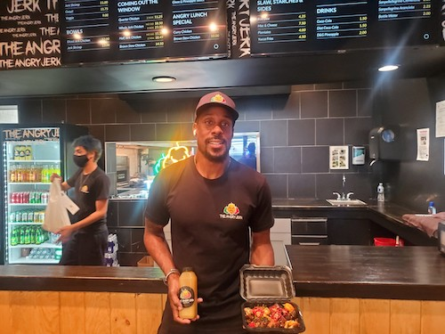 Jason Miskiri owns The Angry Jerk in downtown Silver Spring. (James Wright/The Washington Informer)
