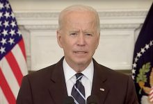 President Joe Biden speaks during a Sept. 9 address from the State Dining Room at the White House to announce new federal COVID-19 vaccine requirements.