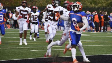 The Roosevelt Rough Riders defeated the Dunbar Crimson Tide 28-21 in Dunbar's homecoming game at Paul Lawrence Dunbar High School in northwest D.C. on Oct. 16. (Robert R. Roberts/The Washington Informer)