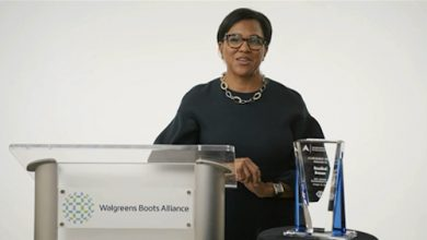 Rosalind Brewer, CEO of Walgreens Boots Alliance, receives The Executive Leadership Council (ELC) 2021 Achievement Award. The award was given during the ELC's virtual 35th anniversary gala. (Courtesy photo)